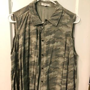 Cold shoulder button up maurices